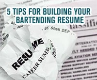 tips for writing a bartender resume