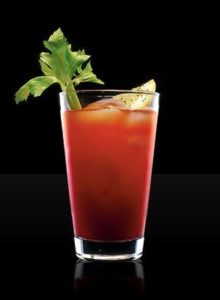 Bloody mary tomato juice vodka lemon