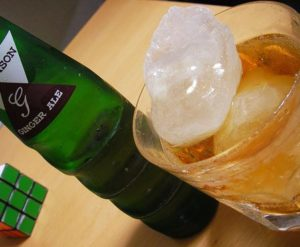 gin buck gingerale highball with ice