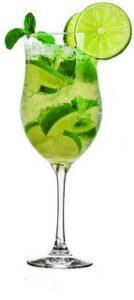 mojito in tall glass rum