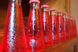 campari and soda in bottles