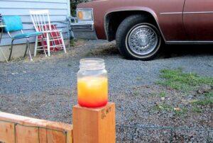 southern or alabama slammer in a mason jar