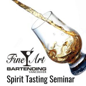 spirits into tasting glass