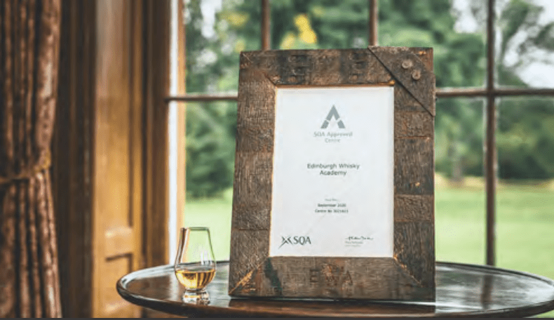 certificate in scotch with custom frame